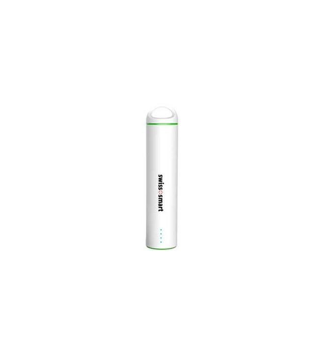 Swiss+Smart Powerbank - Batería externa, capacidad 2600Mah, color Blanco