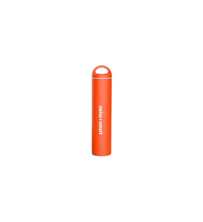 Swiss+Smart Powerbank - Batería externa, capacidad 2600Mah, color Naranja