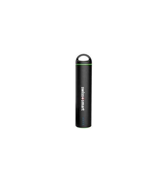 Swiss+Smart Powerbank - Batería externa, capacidad 2600Mah, color Negro