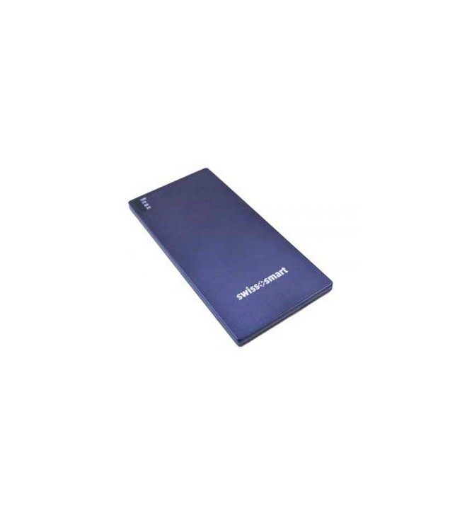Swiss+Smart Powerbank Slim - Batería externa, capacidad 3500Mah, color Azul
