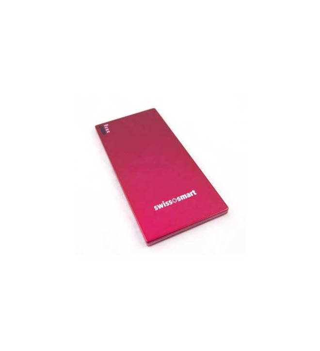 Swiss+Smart Powerbank Slim - Batería externa, capacidad 3500Mah, color Rojo