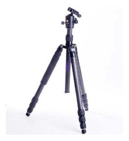 Swiss+Pro C-11 - Trípode, altura máxima 161 cm, color Negro