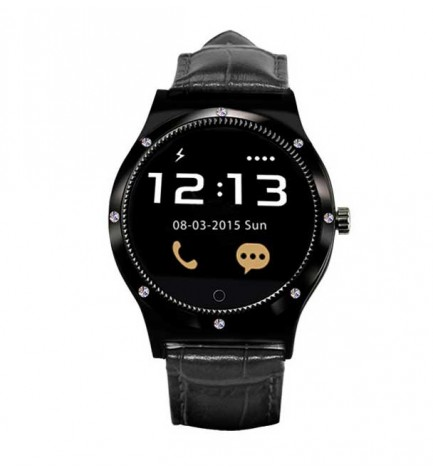 Swiss+Smart Montreux - Smartwatch, conectividad Bluetooth, color Negro