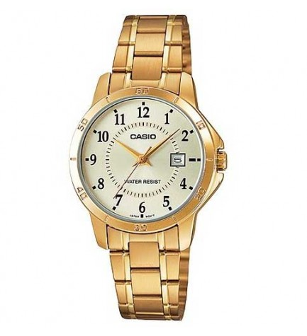 Casio LTP-V004G - Reloj analógico, color Dorado