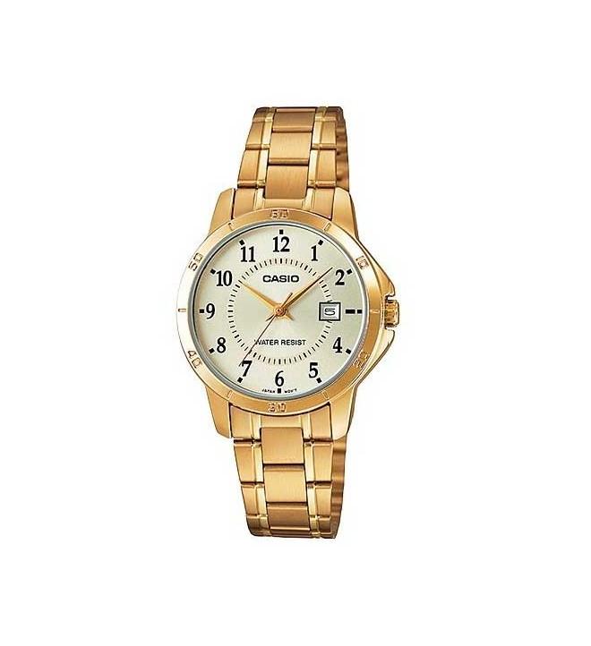 Casio LTP-V004G - Reloj analógico, color Dorado