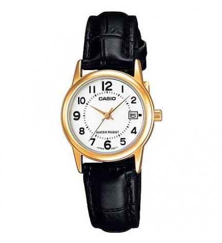 Casio LTP-V002GL - Reloj analógico, material Piel