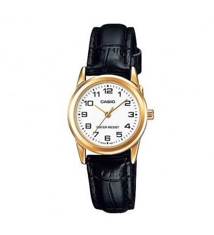 Casio LTP-V001GL - Reloj analógico, material Piel
