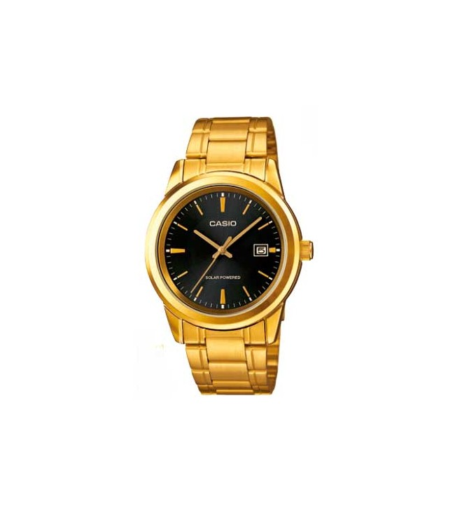 Casio MTP-VS01G - Reloj solar, color Dorado Negro