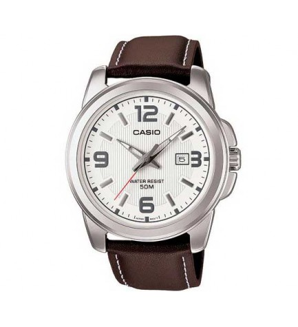 Casio MTP-1314L - Reloj, material piel, color Blanco