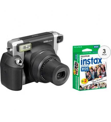 Fujifilm Instax Wide 300 - Cámara instantánea, incluye 60 películas
