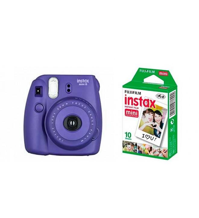 Fujifilm Instax Mini 8 - Cámara instantánea, incluye Film, color Uva