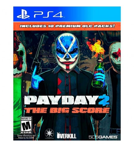 Sony Payday2 The Big Score - Videojuego, Playstation 4