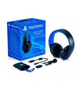 Sony HEADSET 2.0 - Auricular Inalámbrico, diseñado para Playstation 3 Playstation 4 y PSVita, color Negro