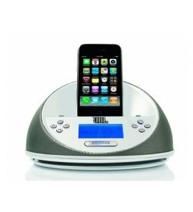 JBL ON Time - Radiodespertador, dockstation para iPod, color Blanco