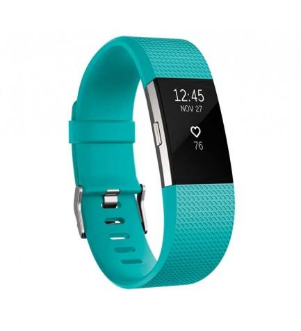 Fitbit Charge 2 - Smartband, diámetro de la muñeca pequeño, color Celeste