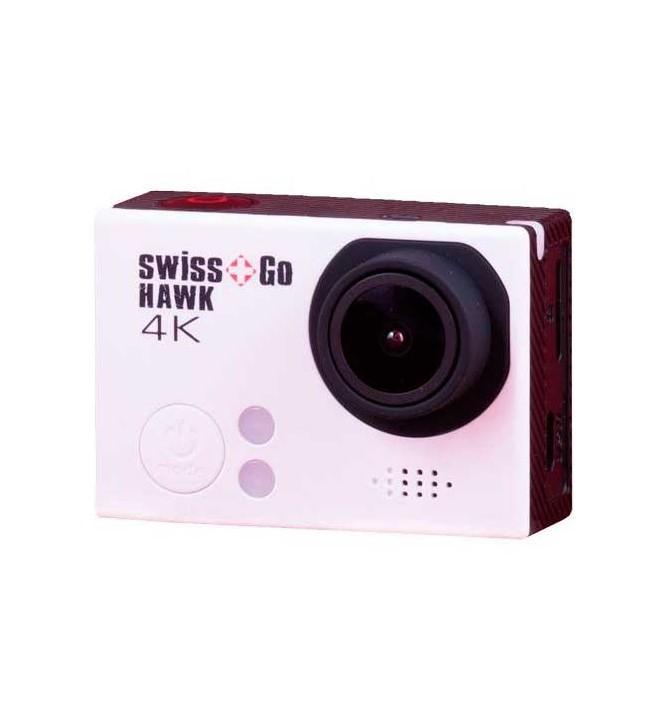 Swiss+Go Hawk - Cámara de acción, resolución 16 Mpx, 4K, color Blanco