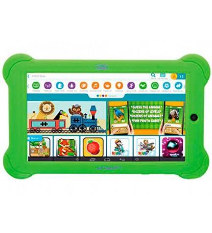 Trevi KIDTAB7 - Tablet, pantalla 7 pulgadas, diseñada para niños, color Verde