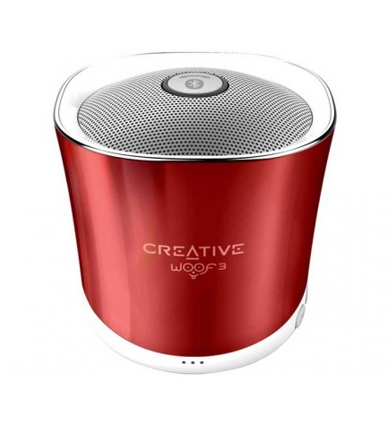 Creative WOOF3 - Altavoz bluetooth, puerto USB, SD, entrada AUX, color Rojo