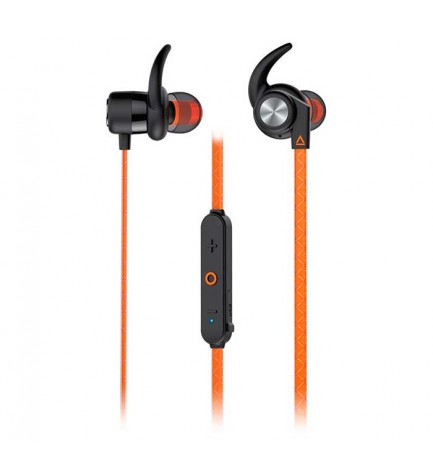 Creative OUTLIER SPORTS - Auriculares deportivos, bluetooth incorporado, color Naranja