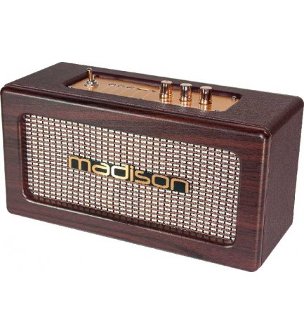 Madison FREESOUND VINTAGE - Altavoz bluetooth, puerto USB