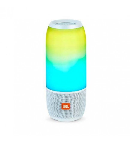 JBL PULSE 3 - Altavoz bluetooth, potencia 20w, micrófono incorporado, color Blanco