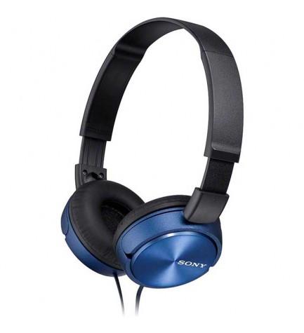 Sony MDR-ZX310A - Auriculares de diadema, micrófono incorporado, color Azul