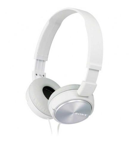 Sony MDR-ZX310A - Auriculares de diadema, micrófono incorporado, color Blanco