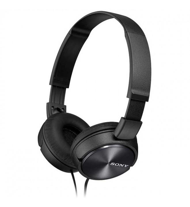 Sony MDR-ZX310A - Auriculares de diadema, micrófono incorporado, color Negro