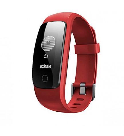 Sunstech FitLife PRO - Smartband, bluetooth, podómetro, color Rojo