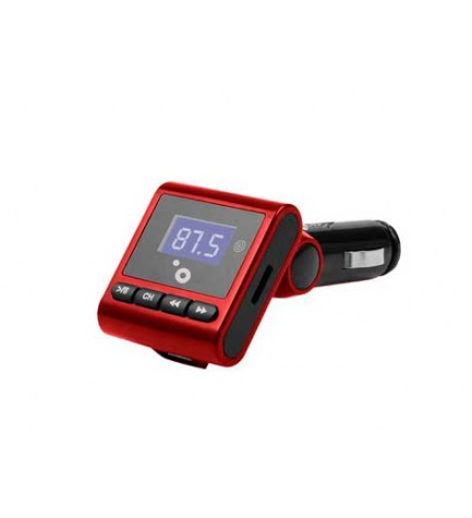 Sunstech FMT120 - Transmisor FM, soporta MP3, color Rojo