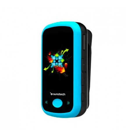 Sunstech IBIZABT - Reproductor MP4, capacidad 8 GB, pantalla 1.8 pulgadas, FM, bluetooth, color Azul