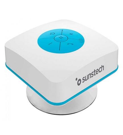 Sunstech SPBTSHOWER - Altavoz, potencia 3w, micrófono incorporado, color Azul