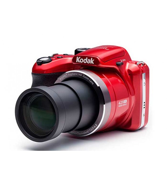 Kodak AZ422 - Cámara bridge, resolución 20 Mpx, zoom 42 aumentos, color Rojo