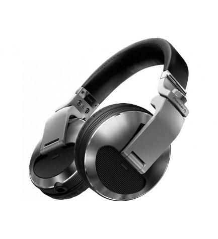 Pioneer HDJ-X7-K - Auriculares DJ, tipo diadema, profesionales, color Plata