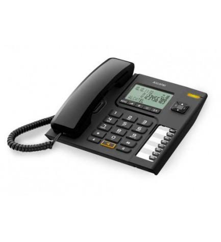 Alcatel T76 - Teléfono de mesa, con pantalla, color Negro