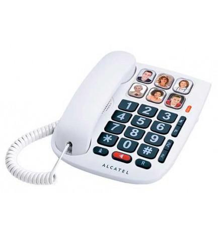 Alcatel TMAX10 - Teléfono móvil, teclas grandes, color Blanco