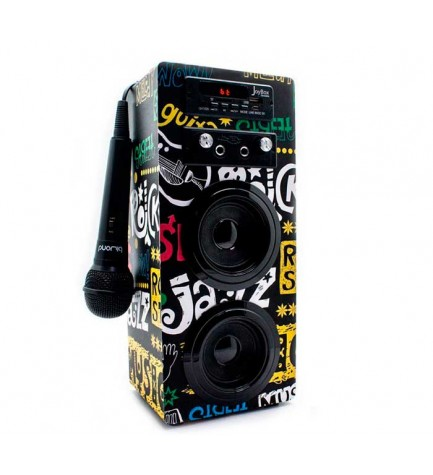 Biwond 51498 BAND - Altavoz Karaoke, bluetooth, potencia 10w