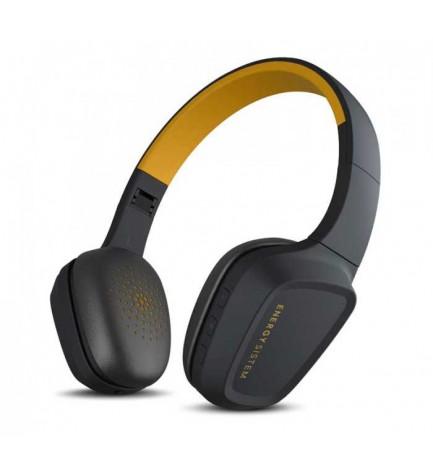 Energy sistem HEAD 3 - Auriculares bluetooth, micrófono incorporado, color Amarillo