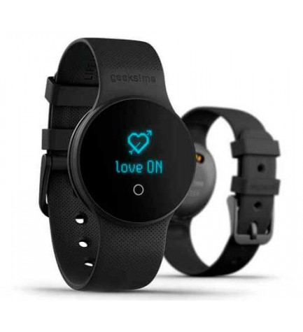 Geeksme GME1 - Smartwatch, Live Lovers, color Negro