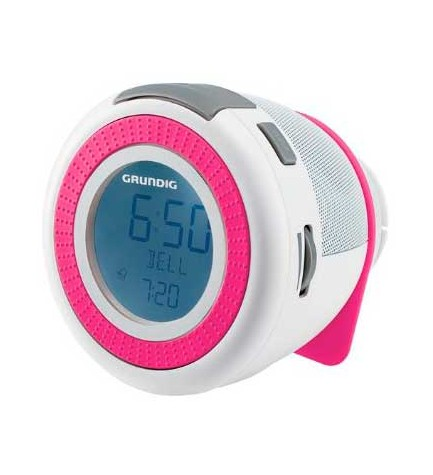 Grundig SONOCLOCK 220 - Despertador, color Blanco Rosa
