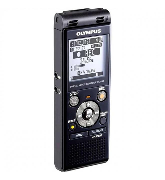 Olympus WS-853 - Grabador de voz, incluye Dragon NaturallySpeaking 12, color Gris
