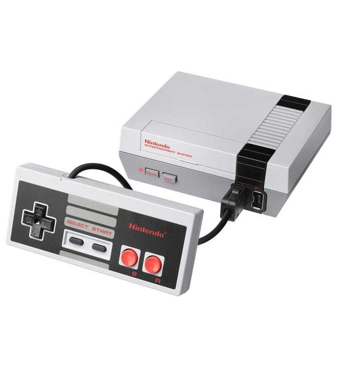 Nintendo Classic Mini - Consola retro, versión en miniatura de la Nintendo NES, 30 juegos incorporados, mando NES incluido