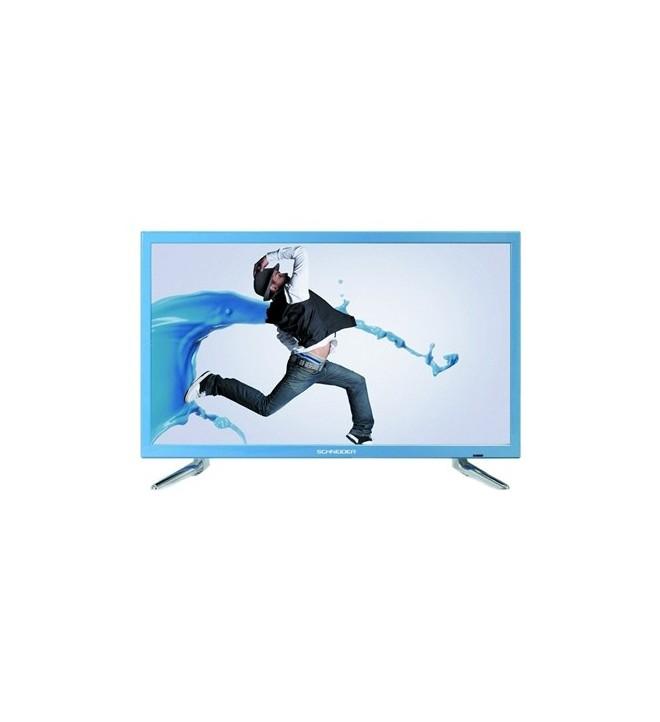 Schneider Rainbow HD - Televisor, pantalla 23.6 pulgadas, puerto USB, color Azul