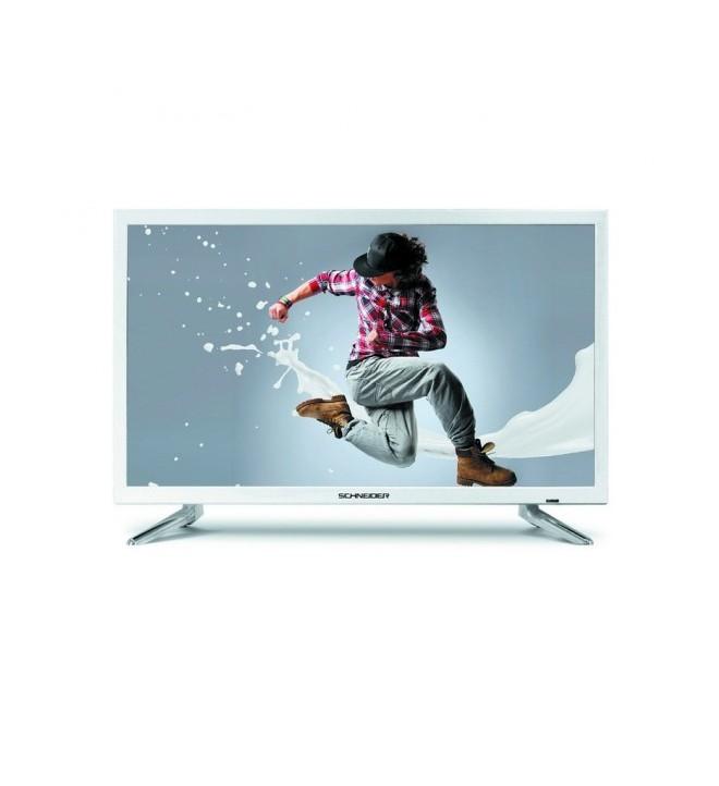 Schneider Rainbow HD - Televisor, pantalla 23.6 pulgadas, puerto USB, color Blanco