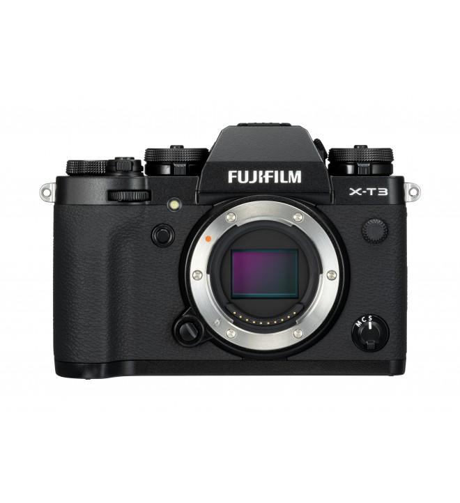 Fujifilm X-T3 - Cámara sin espejo, 26,1 Mpx, Video 4K, Pantalla táctil, WiFi, Bluetooth, color Negro