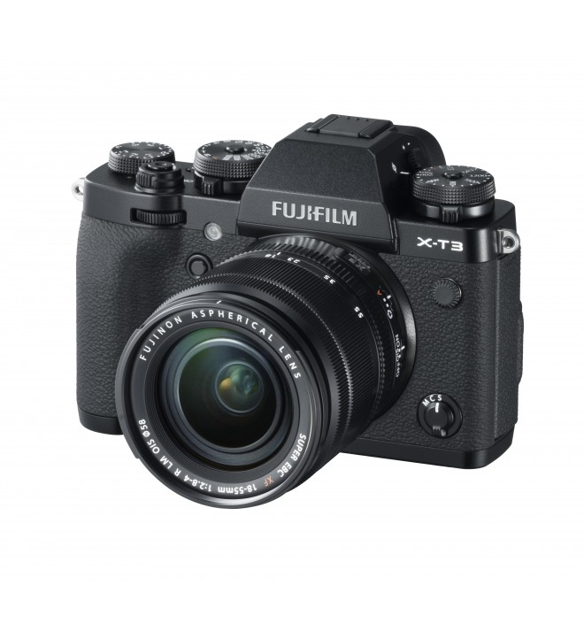 Fujifilm X-T3 - Cámara sin espejo, 26,1 Mpx, Video 4K, Pantalla táctil, WiFi, Bluetooth, Objetivo XF18-55mm, color Plata