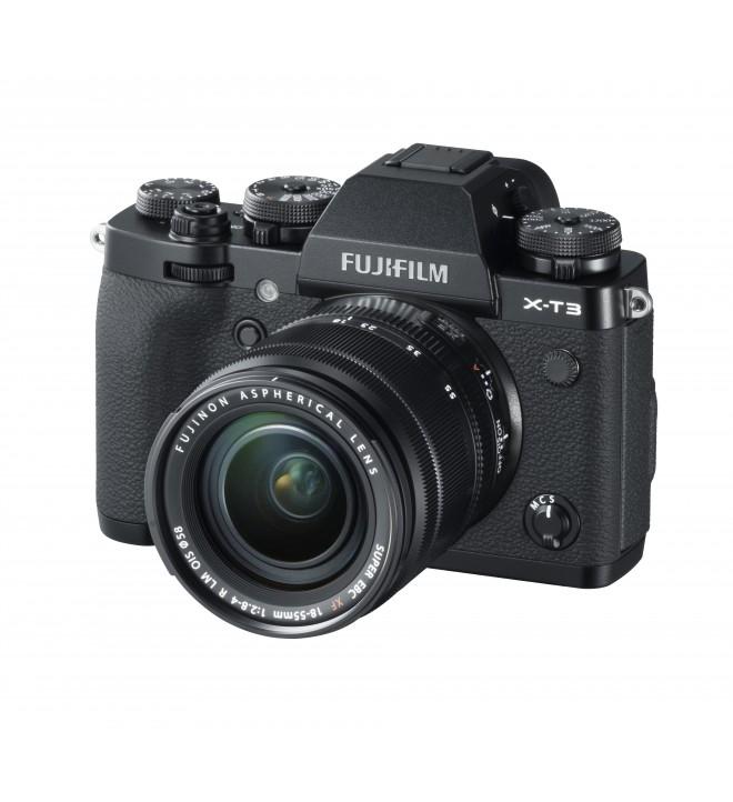 Fujifilm X-T3 - Cámara sin espejo, 26,1 Mpx, Video 4K, Pantalla táctil, WiFi, Bluetooth, Objetivo XF18-55mm, color Plata