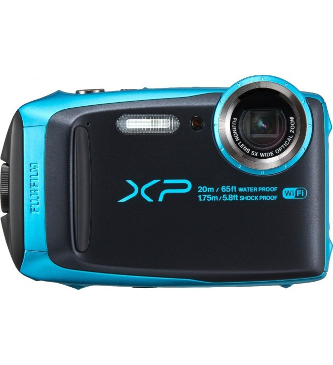Fujifilm XP-120 - Cámara acuática, resolución 16.4 Mpx, color Azul Cielo