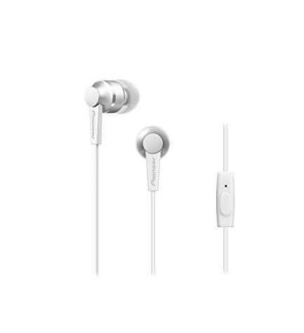 Pioneer SE-C3T-W - Auriculares de botón, internos, color Blanco