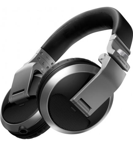 Pioneer HDJ-X5-S - Auriculares DJ, color Plata